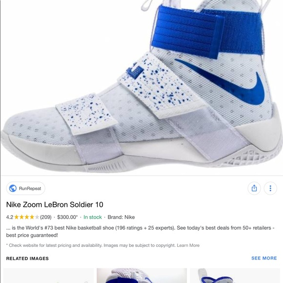 huge selection of 64999 68a9b Nike Zoom LeBron Soldier 10. M 5c82ccf06a0bb7a01f924c3d